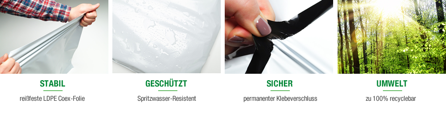 Folienmailer Versandbeutel - DHL konform nach DIN EN ISO 8295