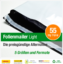 Folienmailer Light Versandbeutel - Die preisgünstige Alternative